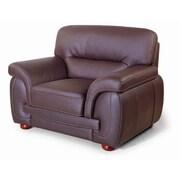 Hokku Designs Sienna Leather Chair; Brown