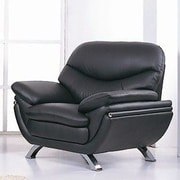 Hokku Designs Jonus Leather Chair; Black