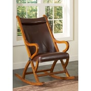 Largo Rocking Chair; Tobacco / Brown Leather