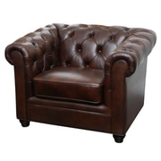 Abbyson Living Arcadian Premium Italian Leather Arm Chair