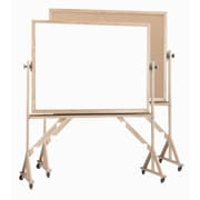 AARCO Reversible Free Standing Whiteboard; 3' H x 4' L