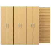 Flow Wall 6' H x 8'W x 1.5' D 3 Tall Cabinet Pack; Maple