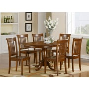 East West Portland 7 Piece Dining Set; Non-Upholstered Wood