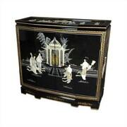 Oriental Furniture Chinese Ladies Design Slant Front Cabinet