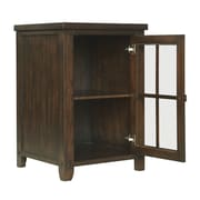 Tresanti 18 Dakota Series Bottle Wine Cabinet; Caramel Oak
