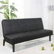 Hodedah Sleeper Sofa; Black