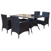 Manhattan Comfort Mulberry 5 Piece Dining Set w/ Cushion; Black and White
