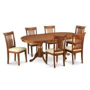 Wooden Importers Plainville 9 Piece Dining Set; Microfiber