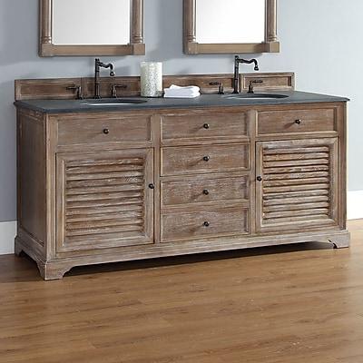 James Martin Furniture Providence 72'' Double Vanity Base; Driftwood