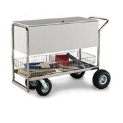 Charnstrom Long Solid Cart w/ Casters and Rear Tires; Molded Rubber