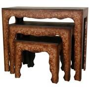 Oriental Furniture Olde-Worlde 3 Piece Nesting Tables