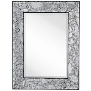 Majestic Mirror Modern Rectangle Crackled Mirror w/ Black Edges