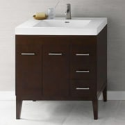 Ronbow Venus Wood Cabinet Vanity Base; Dark Cherry