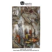Majestic Mirror Urban New York City Abstract Wood Painting Wall Art