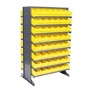 Quantum Double Sided Pick Rack Storage Systems with Various Euro Bins; Blue