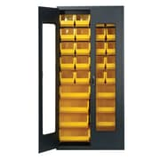 Quantum Clear View 78'' H x 36'' W x 18'' D Storage Cabinet; Yellow