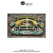 Majestic Mirror 3D Classic American Vintage Car Picture Wall Art On Wood
