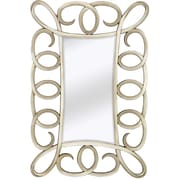 Majestic Mirror Large Contemporary Mirror w/ Decorative Antique Silver Frame