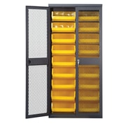 Quantum 78'' H x 36'' W x 18'' D Mesh Safe-View Storage Cabinet; Yellow