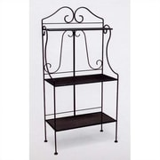 Woodard Deluxe Baker's Rack; Hammered Pewter