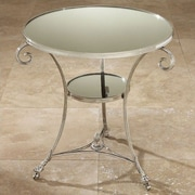 Global Views Draw Attention End Table; Nickel & Mirror
