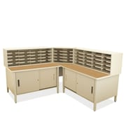 Marvel Office Furniture Mailroom 50 Slot Organizer with Cabinet; Putty