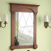 Ronbow Verona Tradional 30'' x 39'' Solid Wood Framed Bathroom Mirror in Colonial Cherry