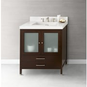 Ronbow Juno 30'' Bathroom Vanity Cabinet Base in Dark Cherry