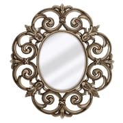 Majestic Mirror Large Traditional Round Decorative Oval Shaped Beveled Glass Wall Mirror