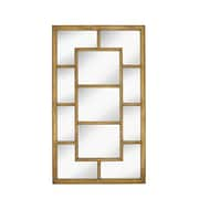 Majestic Mirror Large Rectangular Paneled Mirror with Antique Gold Leaf Frame