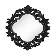 Majestic Mirror Large Wall Mirror with Modern Glam Black Lacquer Frame