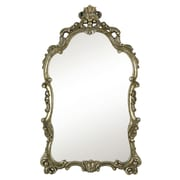 Majestic Mirror Traditional Detailed Elegant Silver and Black Antique Wall Mirror
