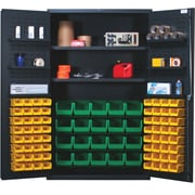 Quantum 78'' H x 48'' W x 24'' D Welded Storage Cabinet; Yellow