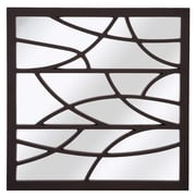 Majestic Mirror Contemporary Artistic Square Accent Mirror; Wenge