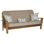 Big Tree Furniture Asana Futon Frame and Mattress with 3 Pillows