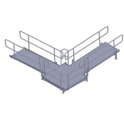 Prairie View Industries Ramp to Landing to Rise; 8 ft W