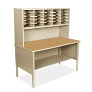 Marvel Office Furniture Mailroom 25 Adjustable Slot Literature Organizer with Riser