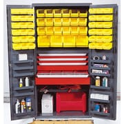 Quantum 72'' H x 36'' W x 24'' D Welded Storage Cabinet; Yellow