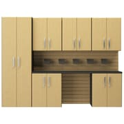 Flow Wall 6' H x 8'W 7 Piece Cabinet Set; Maple