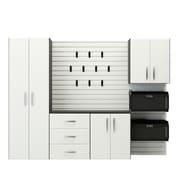 Flow Wall 6' H x 8' W x 1.5' D 5 Piece Storage Cabinet Starter Set; White