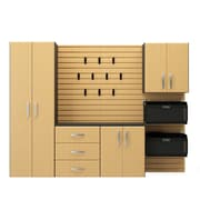 Flow Wall 6' H x 8' W x 1.5' D 5 Piece Cabinet Starter Set; Maple