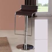J&M Furniture Adjustable Height Swivel Bar Stool; Brown
