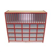 Mahar Creative Colors 40 Compartment Cubby; Red
