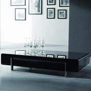 J&M Furniture Modern Coffee Table; Dark Oak