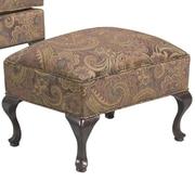 Serta Upholstery Ottoman; Silas Ebony