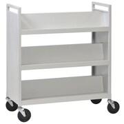 Buddy Products Slant Shelves Book Cart