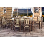 Montana Woodworks  Glacier Country 4 Post Dining Table