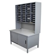 Marvel Office Furniture Mailroom 40 Slot Organizer with Cabinet; Slate Gray