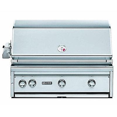 Lynx 3-Burner Built-In Propane Gas Grill w/ Smoker; Natural Gas WYF078277386116