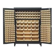 Quantum 84'' H x 60'' W x 24'' D Super Wide Heavy Duty Storage Cabinet; Black